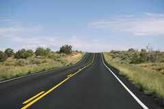 Long Empty Desert Highway Horizon Royalty Free Stock Images