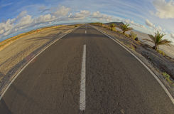 Long Empty Desert Road Royalty Free Stock Images