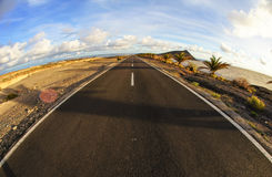 Long Empty Desert Road Royalty Free Stock Image