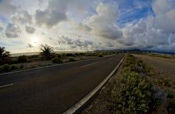 Long Empty Desert Road Stock Image