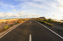 Long Empty Desert Road Stock Photography
