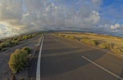 Long Empty Desert Road Royalty Free Stock Photo