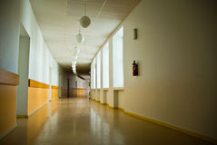 Long empty hallway Royalty Free Stock Photo
