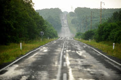 Long and empty highway Royalty Free Stock Image