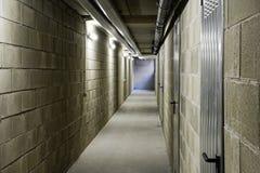 Long empty internal passageway Stock Photo
