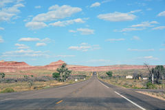 Long and empty road in Colorado Royalty Free Stock Photography