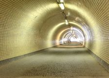 Long empty tunnel Royalty Free Stock Images