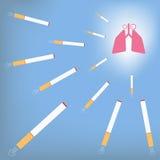 Long en sigaret Royalty-vrije Stock Foto