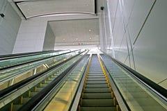 Long Escalator Stock Photography