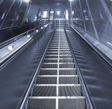 Long Escalator Leading Downwards Stock Image