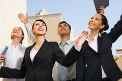 Long-expected success stock image