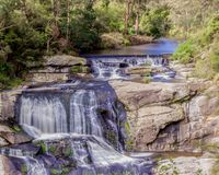 Long exposure of the agnes Falls, Welshpool royalty free stock photo