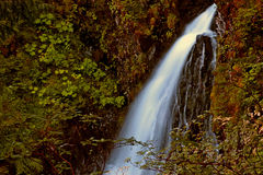 Long exposure Alaskan waterfall in summer Royalty Free Stock Photo