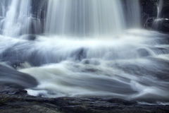 Long exposure, base of Southford Falls, Southbury, Connecticut. Stock Photo