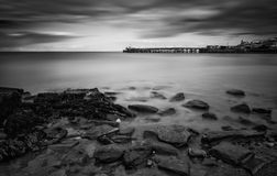 Long exposure black and white seascape landscape Stock Photography
