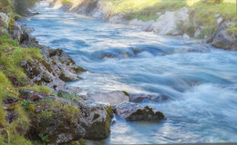 Long exposure of a brook Stock Image