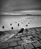 Long Exposure at Burnham with jetty and Pavement Royalty Free Stock Images