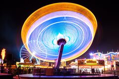 Long exposure of carousel Stock Photos