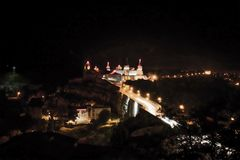 long exposure on the castle in Kamianets-Podilskyi royalty free stock image