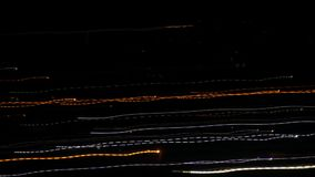 Long exposure, city lights blurred motion, time lapse stock footage