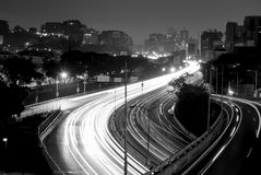 Long exposure city shot. Caracas City in the night long exposure Stock Images