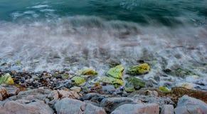 Long exposure in coastline III Stock Photos