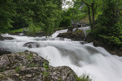 Long exposure of the creek Royalty Free Stock Image
