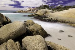 Bay of Fires beach in Tasmania Royalty Free Stock Photo