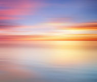 Long Exposure effect of colorful sunset for background Stock Photo
