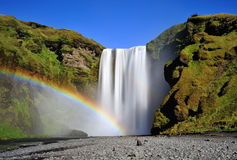 Long exposure of famous Skogafoss Royalty Free Stock Image