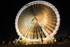 Long exposure of Ferris wheel in Avignon royalty free stock photos