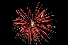 Long exposure fireworks. On a black background Royalty Free Stock Photography