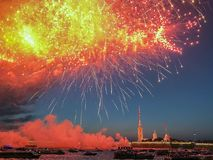 Colorful Fireworks, salute stock photography