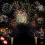 Long Exposure of Fireworks background Royalty Free Stock Image