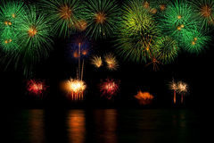 Long Exposure of Fireworks background Royalty Free Stock Images