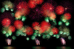 Long Exposure of Fireworks background Royalty Free Stock Photos