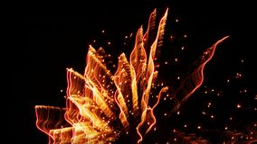 Long exposure fireworks royalty free stock photos