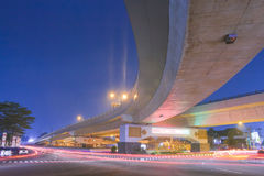 Long exposure Fly Over in the city of Yogyakarta Indonesia Stock Photos