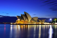 Long exposure fo SYDNEY AUSTRALIA - August 22, 2015 : View of su Stock Photography