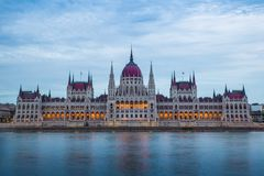 Hungarian Parliament Building from the other side of the danube royalty free stock photos