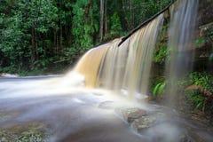Giluk waterfall in Maliau Basin. Long exposure of Giluk waterfall in Maliau Basin Sabah Borneo Malaysia royalty free stock photo