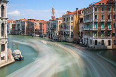 Long exposure of Grand Canal in Venice, Italy Stock Photos