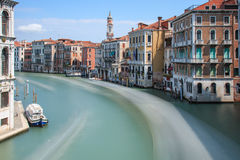 Long exposure of Grand Canal in Venice, Italy Stock Photography