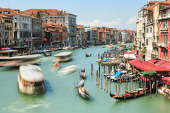 Long exposure of Grand Canal in Venice, Italy Royalty Free Stock Photography