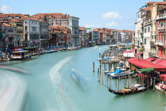 Long exposure of Grand Canal in Venice, Italy Stock Photo