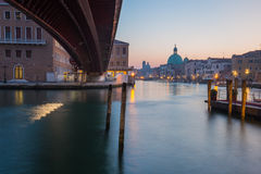 Long exposure of grand canal in Venice, Italy. Stock Images