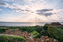 Long exposure in Gurnard, Isle of Wight Stock Image