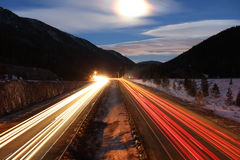 Long Exposure of Highway Royalty Free Stock Image