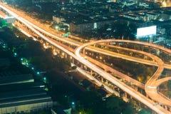 Long exposure highway overpass Stock Photography