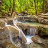 The long exposure image of a beautiful cascade river Stock Photography